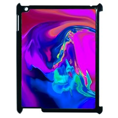 The Perfect Wave Pink Blue Red Cyan Apple Ipad 2 Case (black) by EDDArt