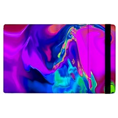 The Perfect Wave Pink Blue Red Cyan Apple Ipad 2 Flip Case by EDDArt