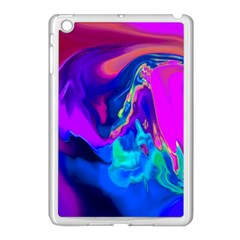 The Perfect Wave Pink Blue Red Cyan Apple Ipad Mini Case (white) by EDDArt