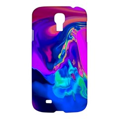 The Perfect Wave Pink Blue Red Cyan Samsung Galaxy S4 I9500/i9505 Hardshell Case by EDDArt