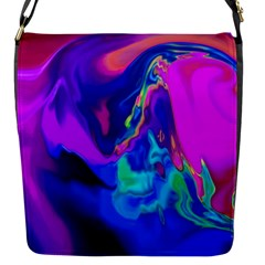 The Perfect Wave Pink Blue Red Cyan Flap Messenger Bag (s) by EDDArt