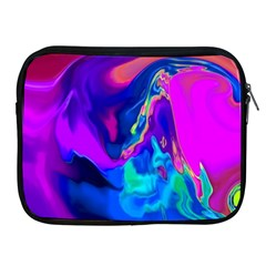 The Perfect Wave Pink Blue Red Cyan Apple Ipad 2/3/4 Zipper Cases by EDDArt