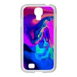 The Perfect Wave Pink Blue Red Cyan Samsung GALAXY S4 I9500/ I9505 Case (White) Front