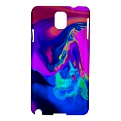 The Perfect Wave Pink Blue Red Cyan Samsung Galaxy Note 3 N9005 Hardshell Case by EDDArt