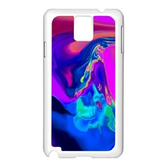 The Perfect Wave Pink Blue Red Cyan Samsung Galaxy Note 3 N9005 Case (white) by EDDArt
