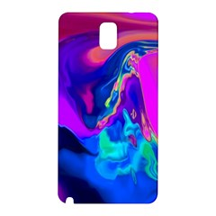 The Perfect Wave Pink Blue Red Cyan Samsung Galaxy Note 3 N9005 Hardshell Back Case by EDDArt