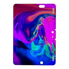The Perfect Wave Pink Blue Red Cyan Kindle Fire Hdx 8 9  Hardshell Case by EDDArt