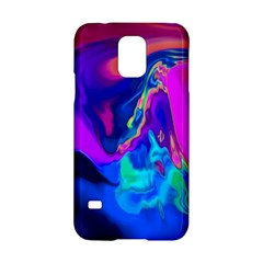 The Perfect Wave Pink Blue Red Cyan Samsung Galaxy S5 Hardshell Case  by EDDArt