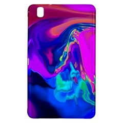The Perfect Wave Pink Blue Red Cyan Samsung Galaxy Tab Pro 8 4 Hardshell Case by EDDArt
