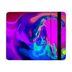 The Perfect Wave Pink Blue Red Cyan Samsung Galaxy Tab Pro 8 4  Flip Case by EDDArt