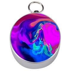 The Perfect Wave Pink Blue Red Cyan Silver Compasses by EDDArt