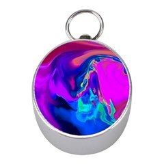 The Perfect Wave Pink Blue Red Cyan Mini Silver Compasses by EDDArt