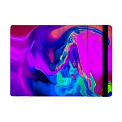 The Perfect Wave Pink Blue Red Cyan Ipad Mini 2 Flip Cases by EDDArt