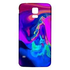 The Perfect Wave Pink Blue Red Cyan Samsung Galaxy S5 Back Case (white) by EDDArt