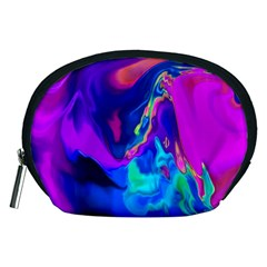 The Perfect Wave Pink Blue Red Cyan Accessory Pouches (medium)  by EDDArt