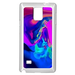 The Perfect Wave Pink Blue Red Cyan Samsung Galaxy Note 4 Case (white) by EDDArt