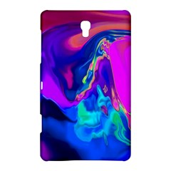 The Perfect Wave Pink Blue Red Cyan Samsung Galaxy Tab S (8 4 ) Hardshell Case  by EDDArt