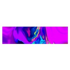 The Perfect Wave Pink Blue Red Cyan Satin Scarf (oblong) by EDDArt