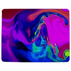 The Perfect Wave Pink Blue Red Cyan Jigsaw Puzzle Photo Stand (rectangular) by EDDArt