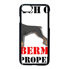 Doberman On Property Apple iPhone 7 Seamless Case (Black)
