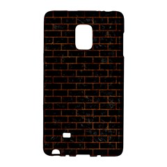 Brick1 Black Marble & Brown Marble Samsung Galaxy Note Edge Hardshell Case by trendistuff