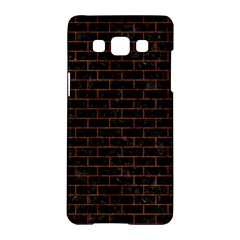 Brick1 Black Marble & Brown Marble Samsung Galaxy A5 Hardshell Case  by trendistuff