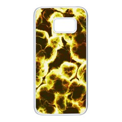Abstract Pattern Samsung Galaxy S7 White Seamless Case by Onesevenart