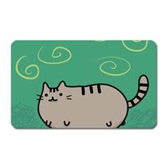 Fat Cat Magnet (rectangular) by Onesevenart