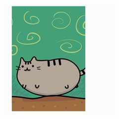Fat Cat Large Garden Flag (two Sides) by Onesevenart