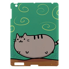 Fat Cat Apple Ipad 3/4 Hardshell Case by Onesevenart
