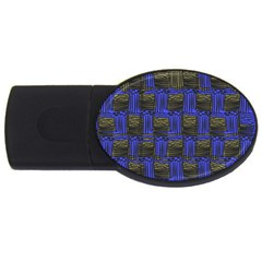 Basket Weave Usb Flash Drive Oval (4 Gb)  by Onesevenart
