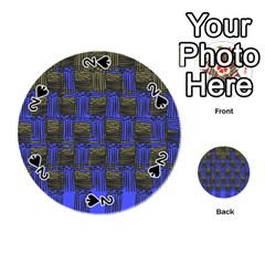 Basket Weave Playing Cards 54 (round)  by Onesevenart