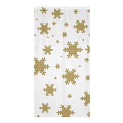 Gold Snow Flakes Snow Flake Pattern Shower Curtain 36  X 72  (stall)  by Onesevenart