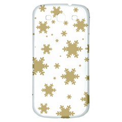 Gold Snow Flakes Snow Flake Pattern Samsung Galaxy S3 S Iii Classic Hardshell Back Case by Onesevenart