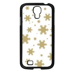 Gold Snow Flakes Snow Flake Pattern Samsung Galaxy S4 I9500/ I9505 Case (black)
