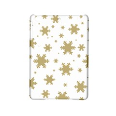 Gold Snow Flakes Snow Flake Pattern Ipad Mini 2 Hardshell Cases by Onesevenart