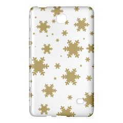 Gold Snow Flakes Snow Flake Pattern Samsung Galaxy Tab 4 (8 ) Hardshell Case  by Onesevenart