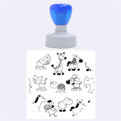 Group Of Animals Graphic Rubber Round Stamps (large) by Onesevenart