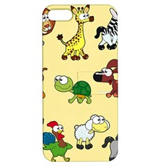Group Of Animals Graphic Apple Iphone 5 Hardshell Case With Stand by Onesevenart