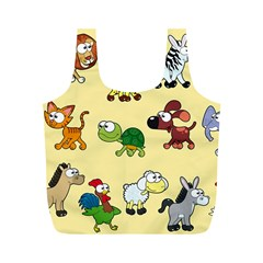 Group Of Animals Graphic Full Print Recycle Bags (m)  by Onesevenart