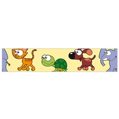 Group Of Animals Graphic Flano Scarf (small) by Onesevenart