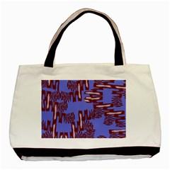Ikat Sticks Basic Tote Bag by Onesevenart