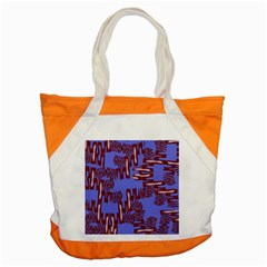 Ikat Sticks Accent Tote Bag by Onesevenart