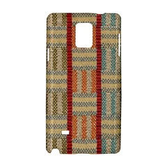 Fabric Pattern Samsung Galaxy Note 4 Hardshell Case by Onesevenart