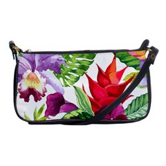 Vector Pattern Tropical Shoulder Clutch Bags by Onesevenart