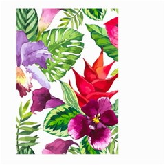 Vector Pattern Tropical Large Garden Flag (two Sides) by Onesevenart