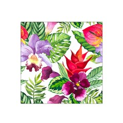 Vector Pattern Tropical Satin Bandana Scarf by Onesevenart