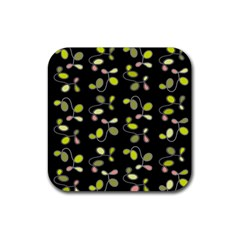 My Beautiful Garden Rubber Coaster (square)  by Valentinaart
