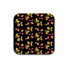 My Garden Rubber Square Coaster (4 Pack)  by Valentinaart