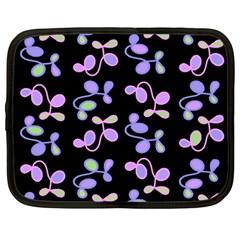 Purple Garden Netbook Case (large) by Valentinaart